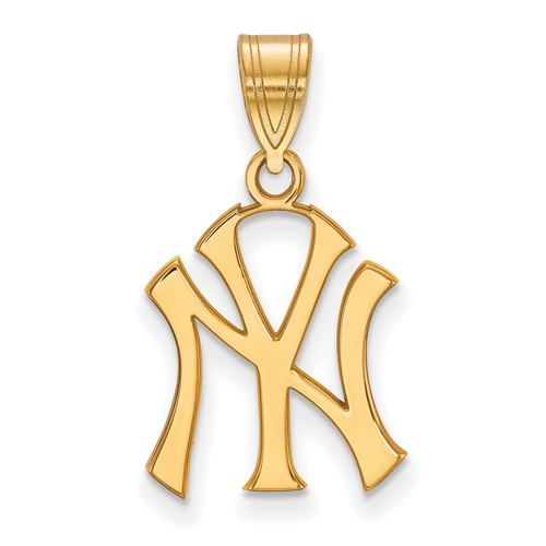 14kt Yellow Gold 5/8in New York Yankees NY Pendant