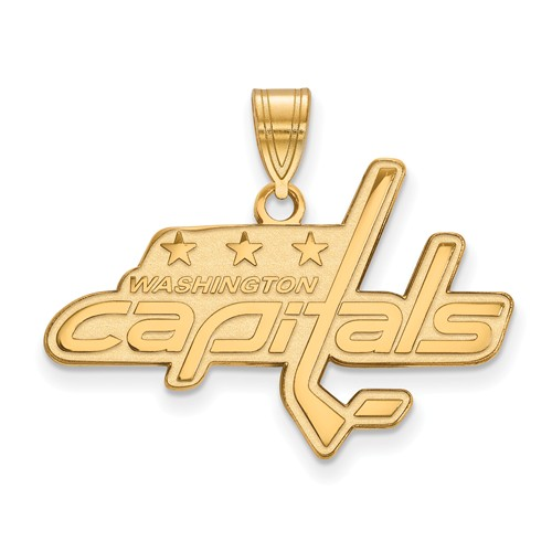 10k Yellow Gold 3/4in Washington Capitals Pendant