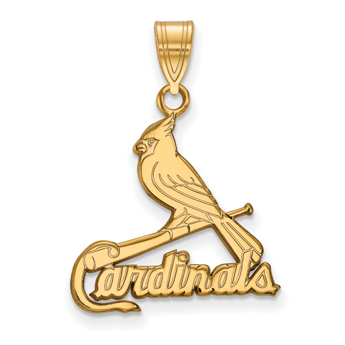 14kt Yellow Gold 3/4in St. Louis Cardinals Logo Pendant