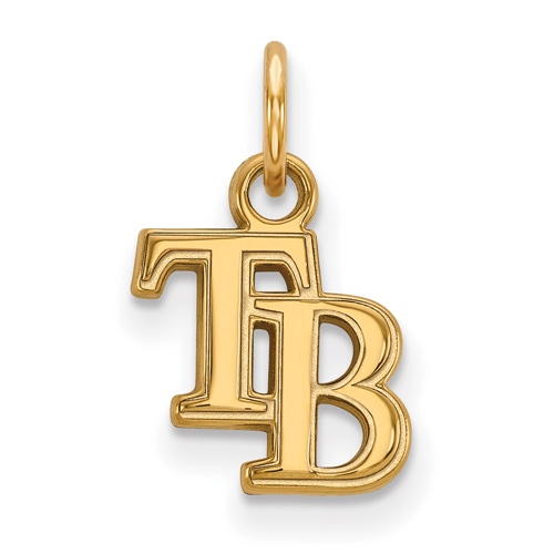 10k Yellow Gold 3/8in Tampa Bay Rays TB Pendant