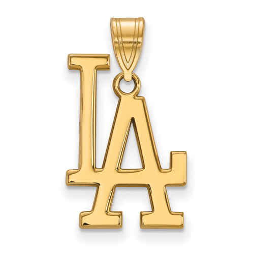 10k Yellow Gold Los Angeles Dodgers LA Pendant