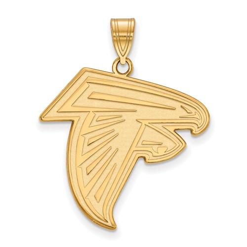 10k Yellow Gold 1in Atlanta Falcons Pendant