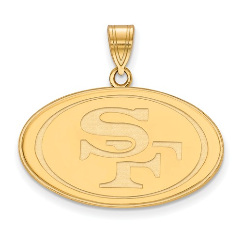 10k Yellow Gold 3/4in San Francisco 49ers Pendant