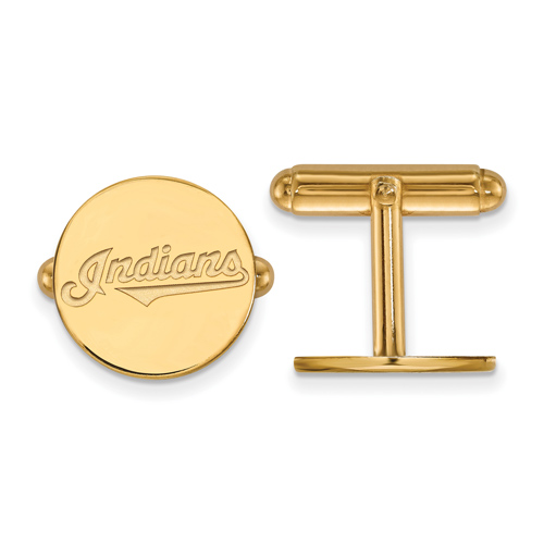 14k Yellow Gold Cleveland Indians Cuff Links