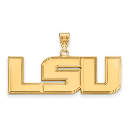 10kt Yellow Gold 5/8in Louisiana State University LSU Pendant