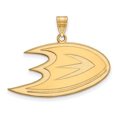 14k Yellow Gold 3/4in Anaheim Ducks Pendant