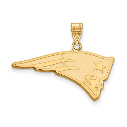 14k Yellow Gold 1 1/4in New England Patriots Pendant