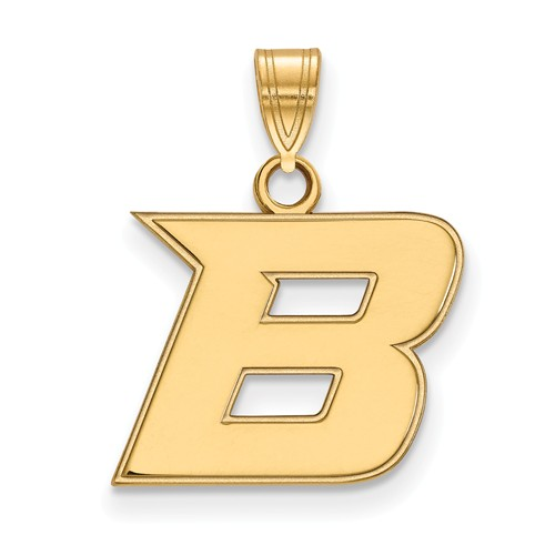 Boise State University B Charm 1/2in 10k Yellow Gold
