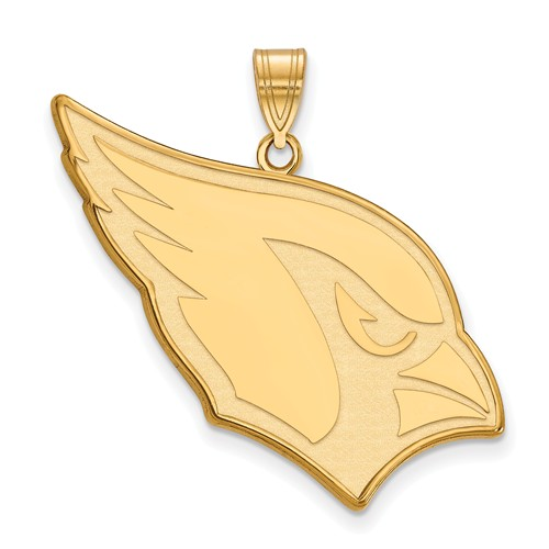 10k Yellow Gold 1in Arizona Cardinals Pendant