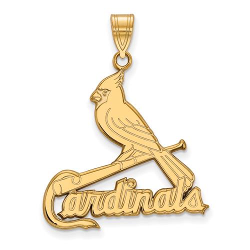 10kt Yellow Gold 1in St. Louis Cardinals Bird Pendant