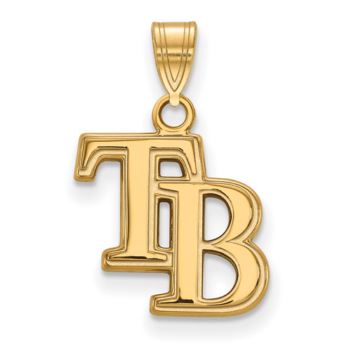 10k Yellow Gold 5/8in Tampa Bay Rays TB Pendant