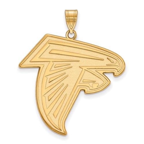 10k Yellow Gold 1 1/4in Atlanta Falcons Pendant