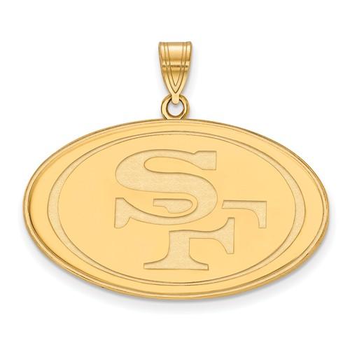 14k Yellow Gold Extra Large San Francisco 49ers Pendant