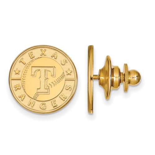 14k Yellow Gold Texas Rangers Lapel Pin