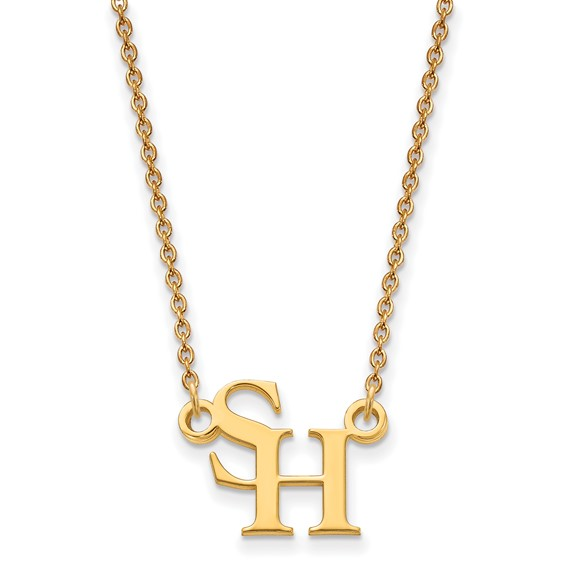 Sam Houston University Logo Necklace 1/2in 10k Yellow Gold