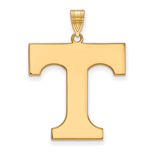 10kt Yellow Gold 1in University of Tennessee T Pendant