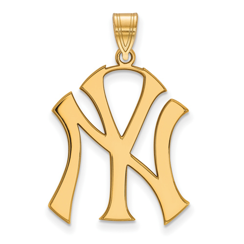 14kt Yellow Gold 1in New York Yankees Pendant