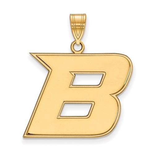 Boise State University B Pendant 3/4in 14k Yellow Gold