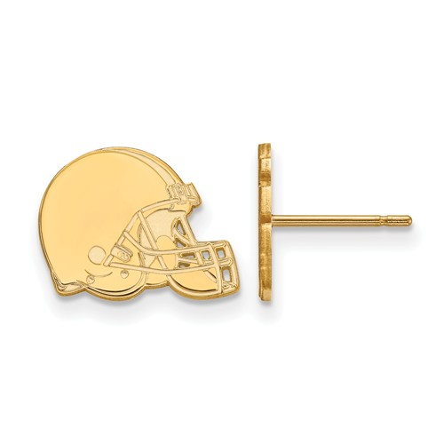 10k Yellow Gold Cleveland Browns Extra Small Logo Earrings