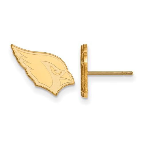 10k Yellow Gold Arizona Cardinals Extra Small Logo Earrings