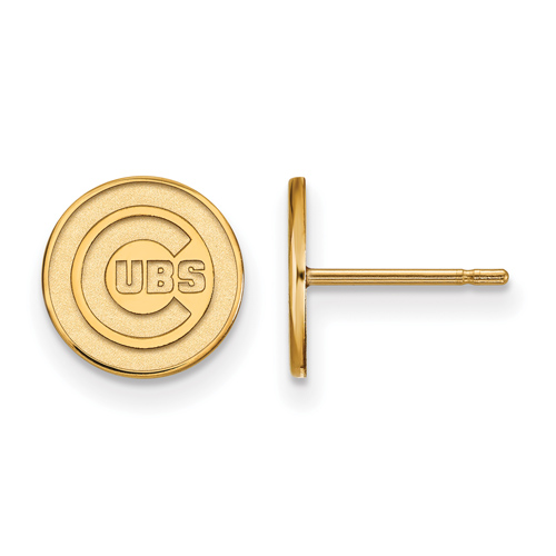 14kt Yellow Gold Chicago Cubs Extra Small Post Earrings