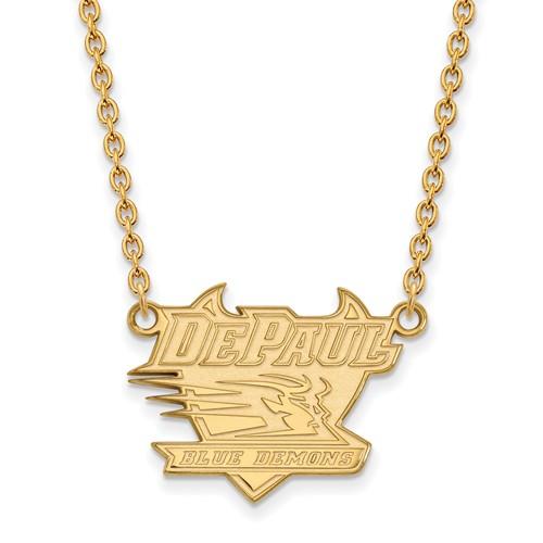 DePaul University Pendant on 18in Chain 14k Yellow Gold