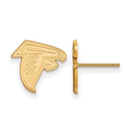 10k Yellow Gold Atlanta Falcons Extra Small Logo Earrings