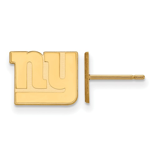 14k Yellow Gold New York Giants Extra Small Logo Earrings