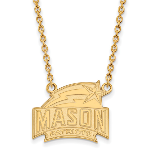 George Mason University Patriots Pendant on 18in Chain 10k Yellow Gold