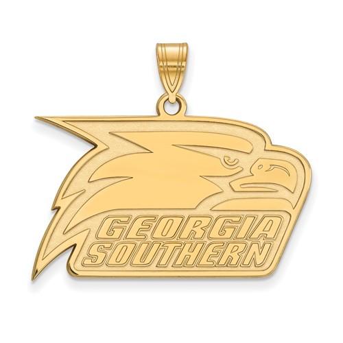 10k Yellow Gold Georgia Southern University Athletic Pendant 3/4in