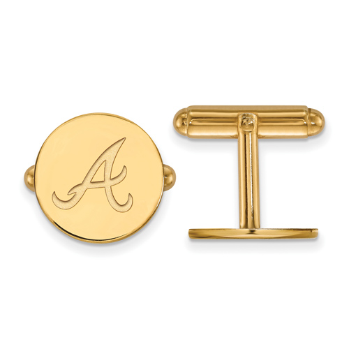 14kt Yellow Gold Atlanta Braves Cuff Links