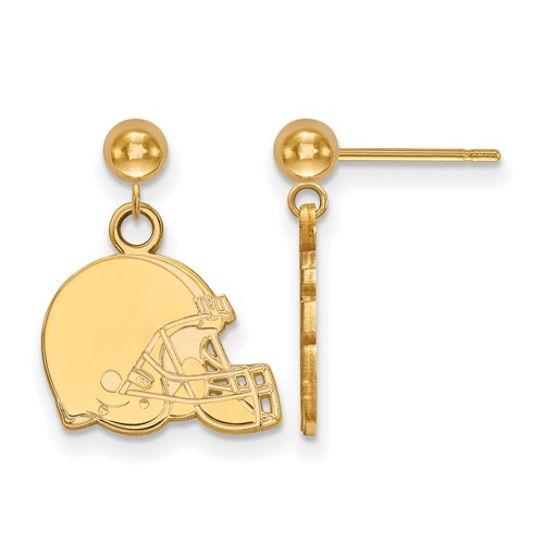 14k Yellow Gold Cleveland Browns Dangle Ball Earrings