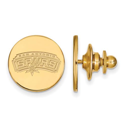 14kt Yellow Gold San Antonio Spurs Lapel Pin