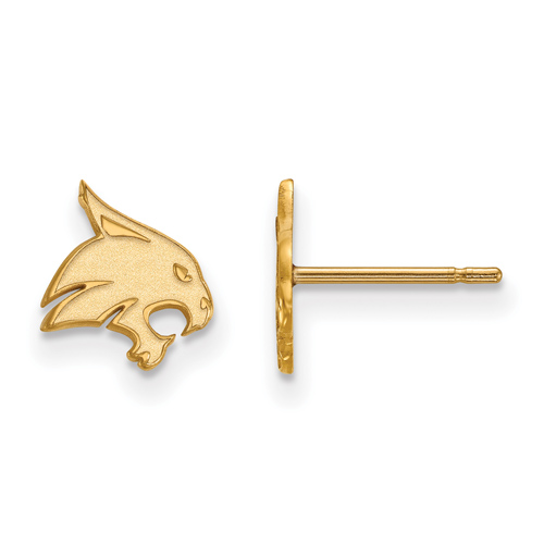 Texas State University Earrings Extra Small 10k Yellow Gold