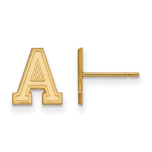 United States Military Academy Extra Small Earrings 10k Yellow Gold