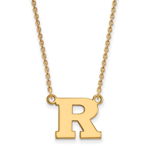 14k Yellow Gold Rutgers University Small Necklace