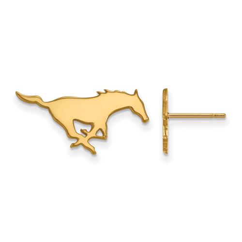 Southern Methodist University Small Post Earrings 14k Yellow Gold
