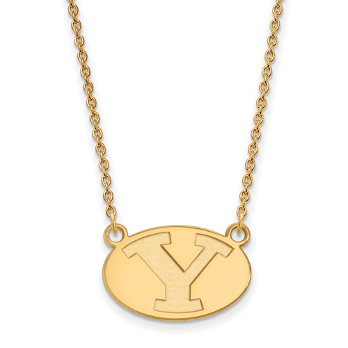 Brigham Young University Necklace 1/2in 10k Yellow Gold