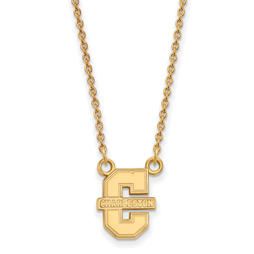 College of Charleston Necklace Small 14k Yellow Gold