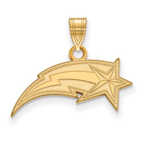 14k Yellow Gold 1/2in George Mason University Star Pendant