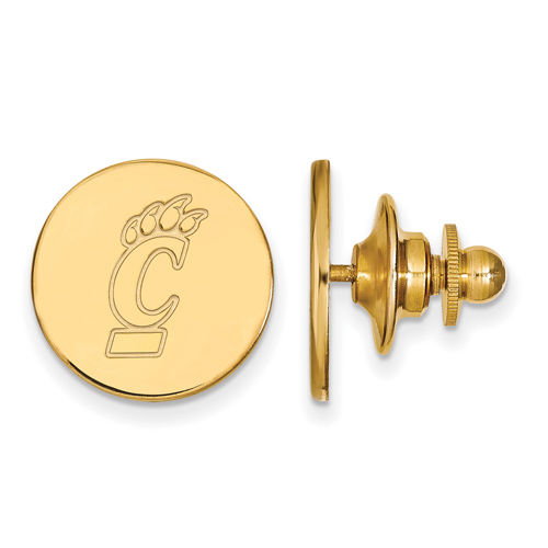 14k Yellow Gold University Of Cincinnati Round Lapel Pin