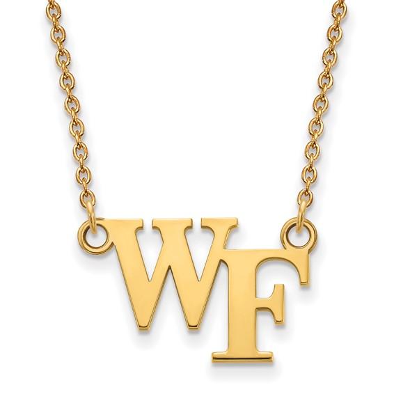 Wake Forest University WF Necklace 14k Yellow Gold