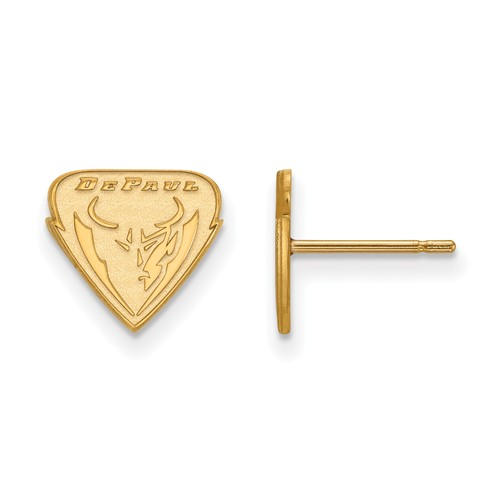 DePaul University Extra Small Post Earrings 10k Yellow Gold
