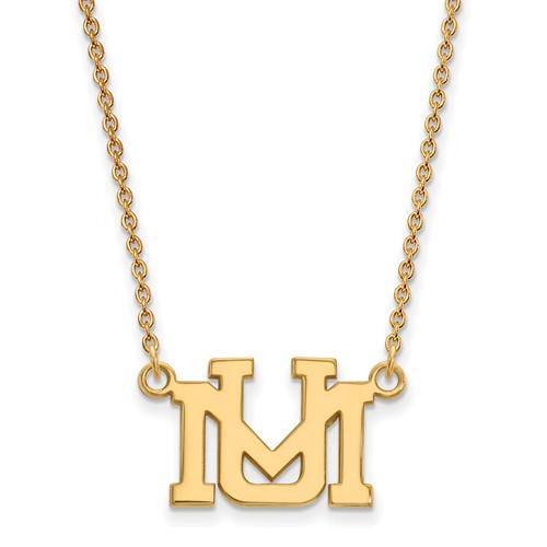 10k Yellow Gold University of Montana UM Necklace