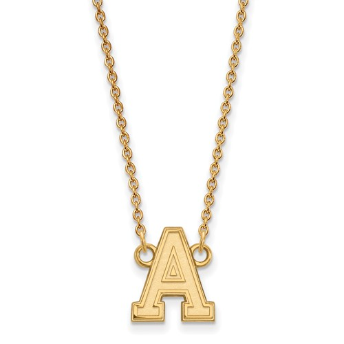 United States Military Academy Pendant on Necklace 14k Yellow Gold