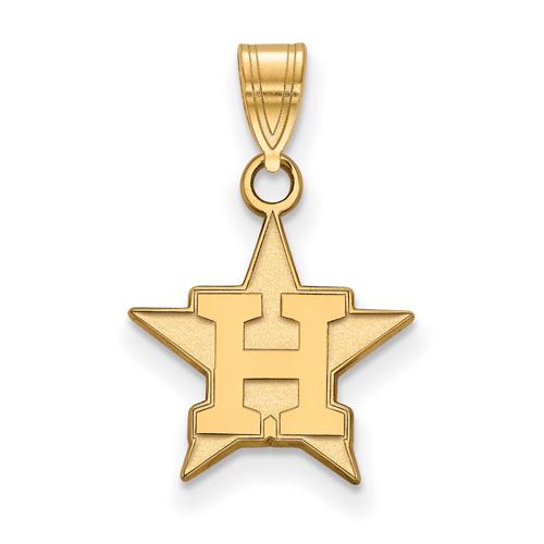 Astros Star >> 10k Yellow Gold 1 2in Houston Astros Star Pendant