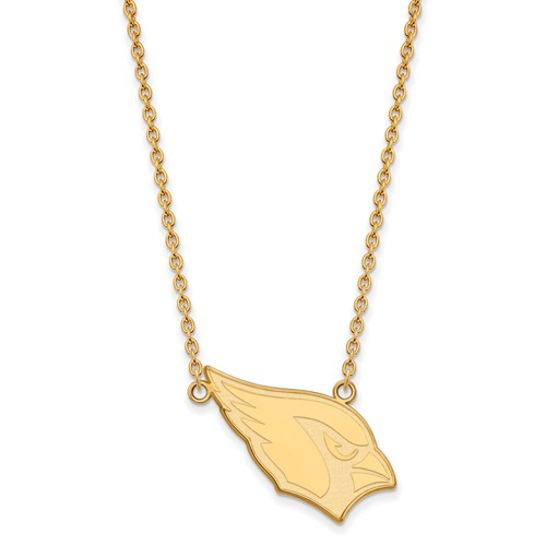 Arizona Cardinals Pendant Necklace 10k Yellow Gold
