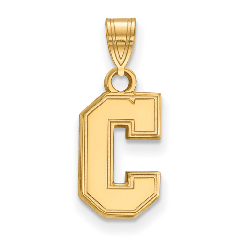 College of Charleston C Pendant 1/2in 10k Yellow Gold