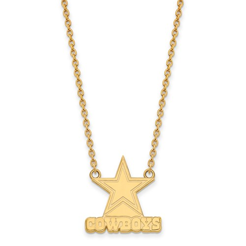 Dallas Cowboys Pendant Necklace 10k Yellow Gold