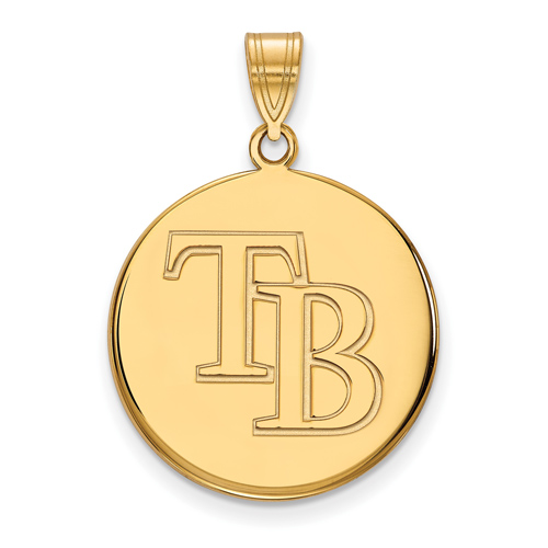 14k Yellow Gold 3/4in Tampa Bay Rays Pendant